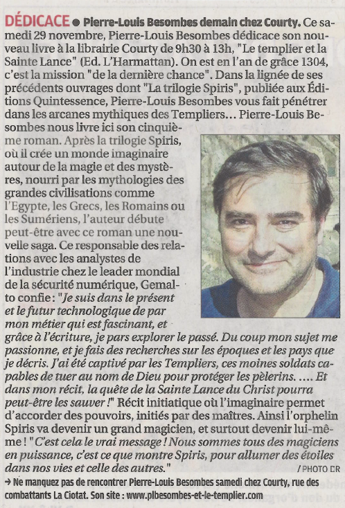 Article La Provence Nov 2014